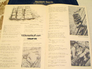 100tos#1466-Identify sailing ships part of pamphlet of history of sailors, loggers & song lyrics.